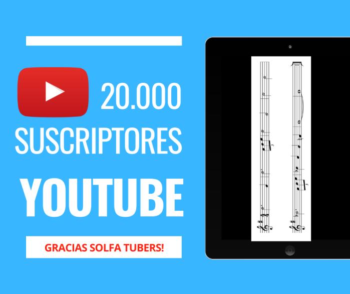 20000 suscriptores youtube